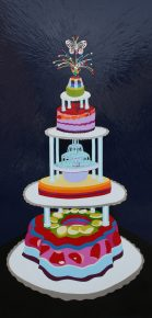 """Tiers of Joy"" 24"" x 48"" Enamel on Plexiglas 2008"