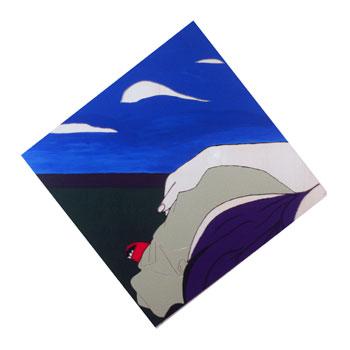 """""""Silver Lining"""" 100cm x 100cm Acrylic on Plexiglas 2000"""
