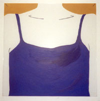 """Tank Top"" 12""x 12"" Acrylic on Plexiglas 2000"