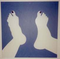 """Feet"" 12""x 12"" Acrylic on Plexiglas 2000"